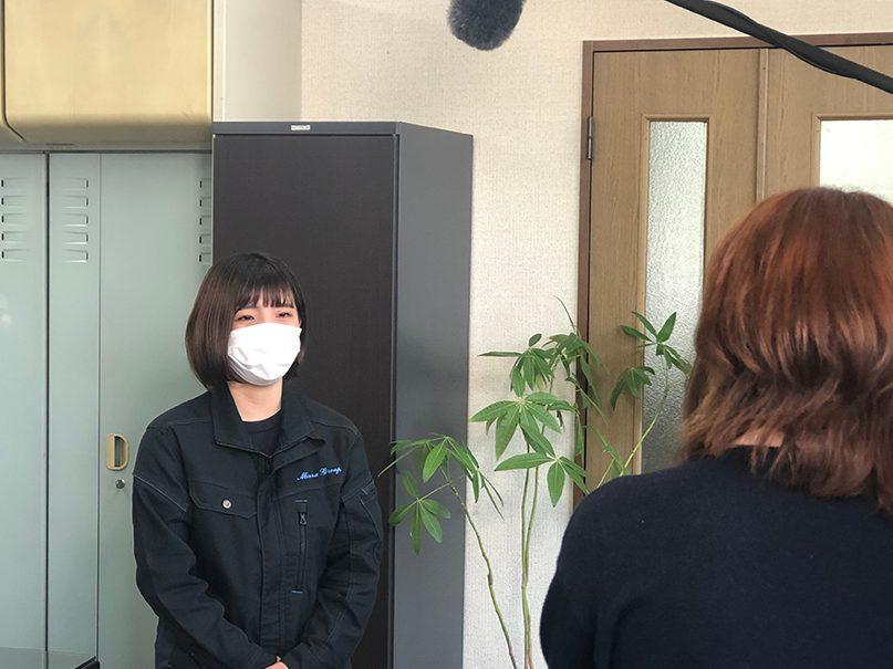 テレビ取材 TOS「ゆーわくワイド」三浦国土建設(株)